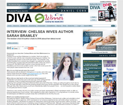 """Interview Chelsea Wives author Sarah Bramley"" on divamag.co.uk"